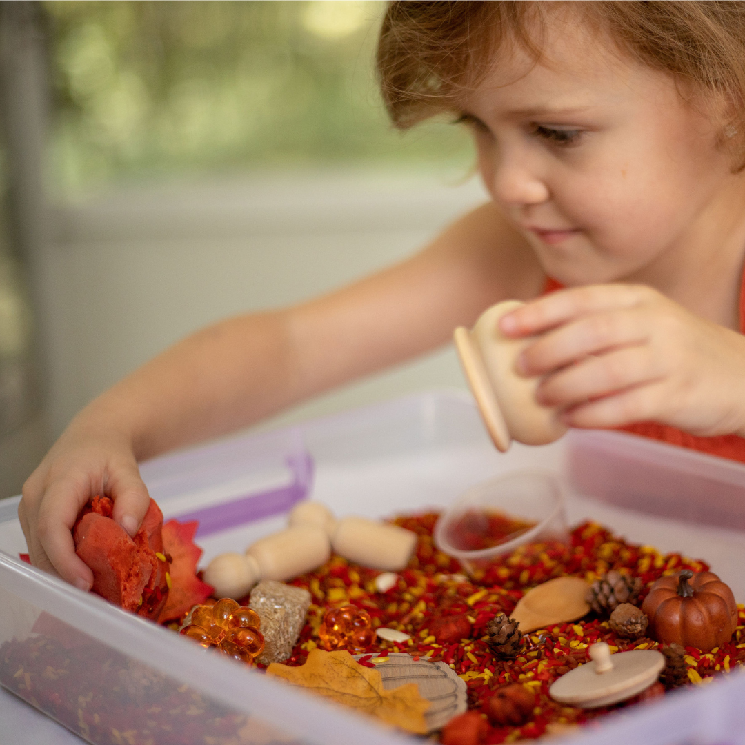 15+ Ways to Play with the Fall Sensory Kit