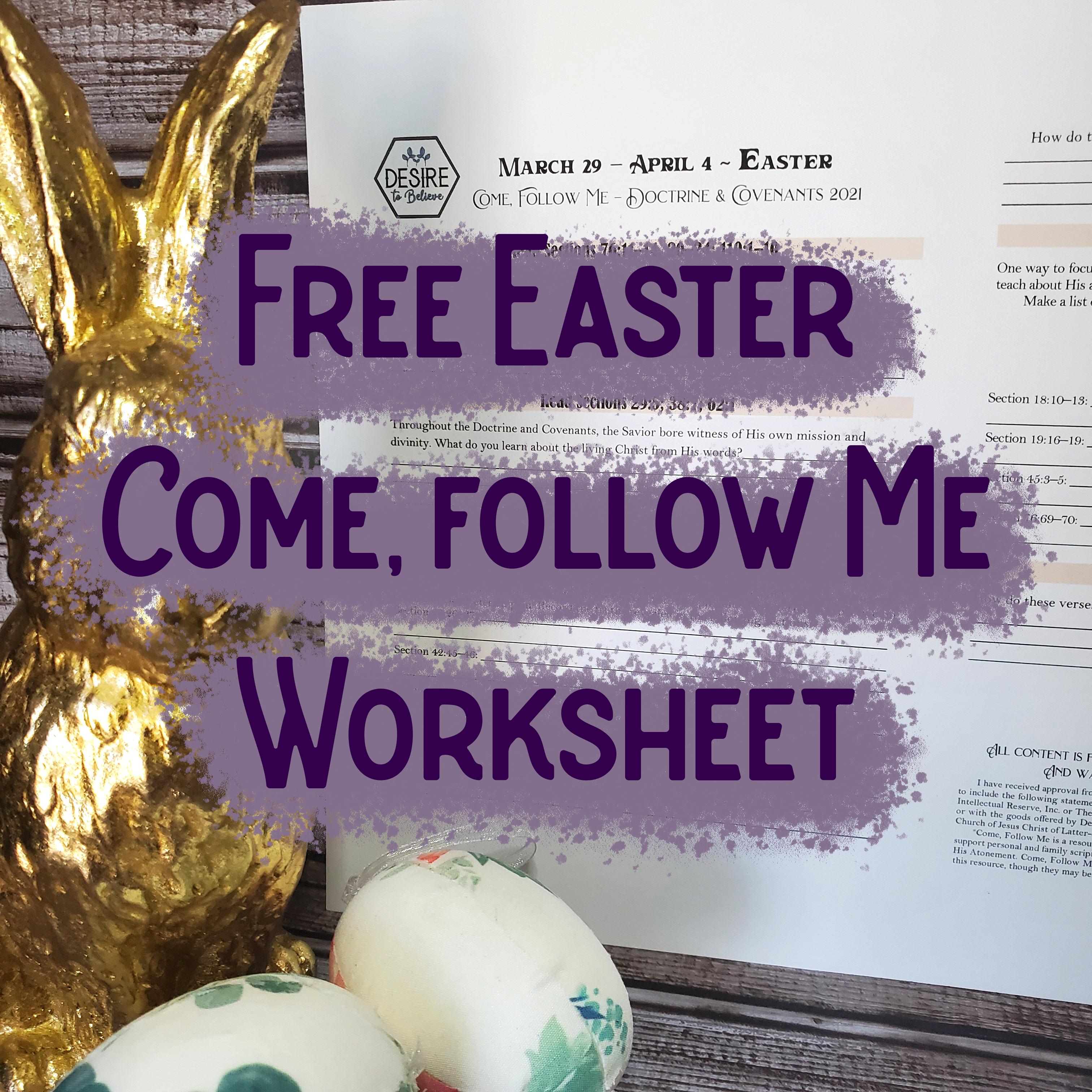 Easter 2021 Worksheet