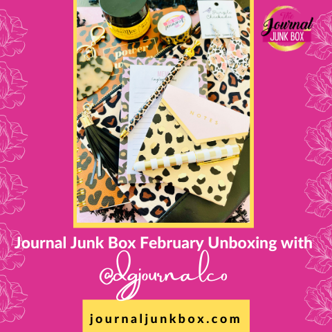 Journal Junk Box Feb Unboxing with @dgjournalco