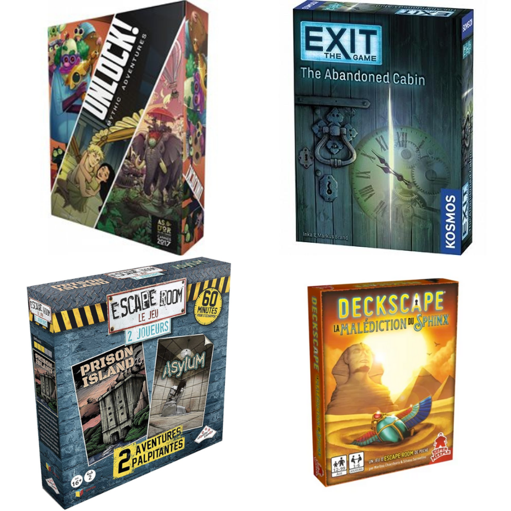 Unlock, Exit, Escape Box, Deckscape, lequel de ces jeux vous correspond ?