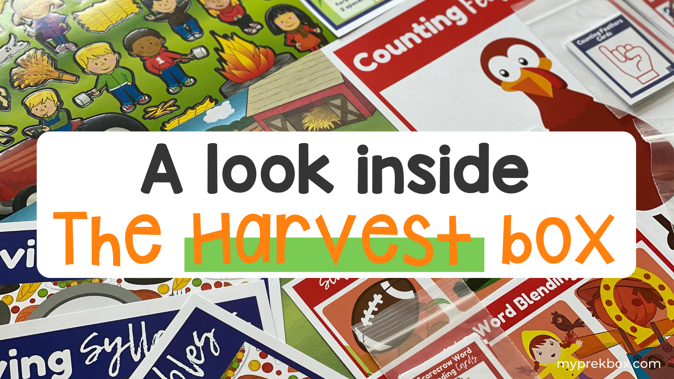 A Look Inside The Harvest Box: Fall Themed Activities for Preschoolers