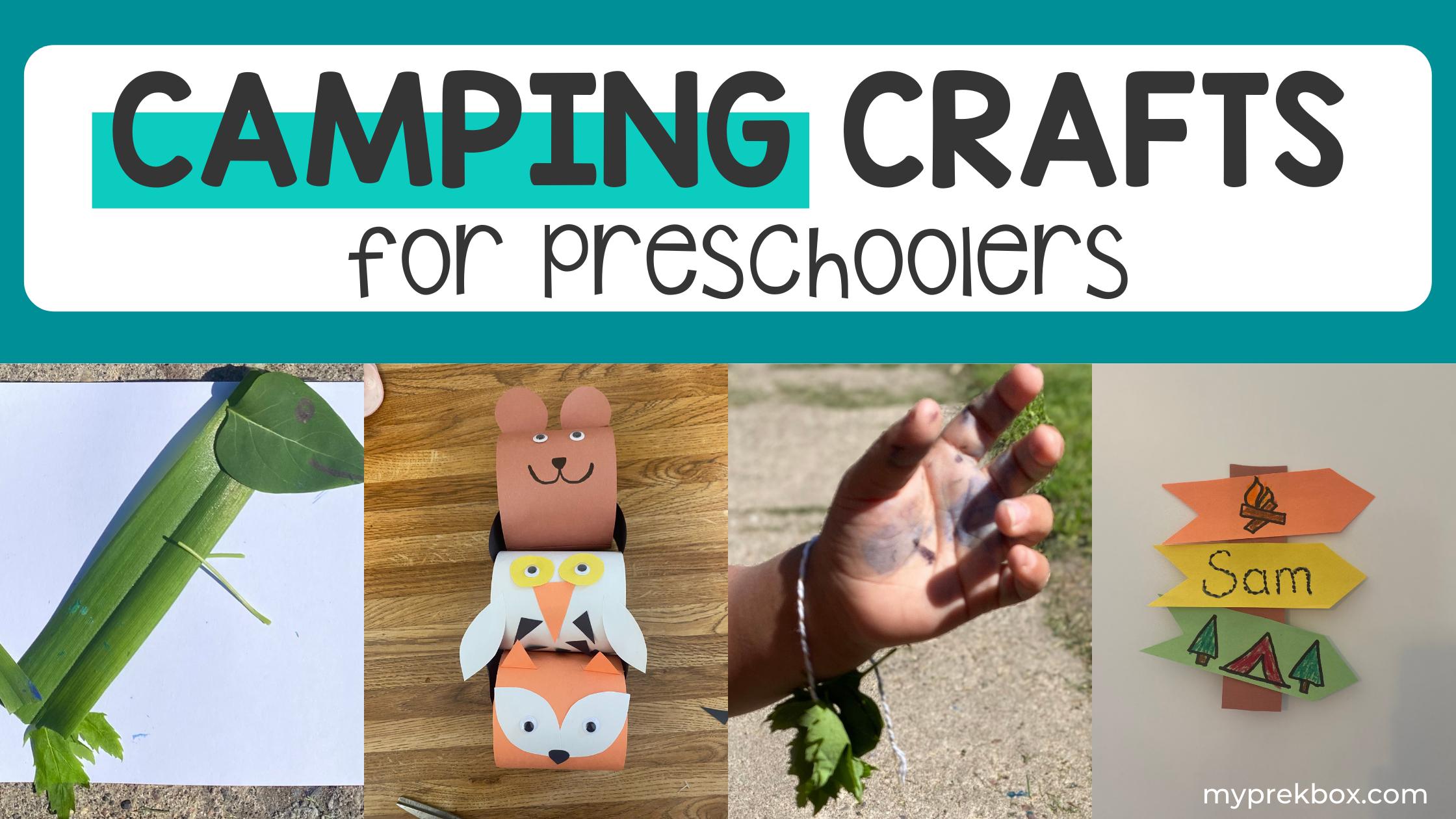 Getting Creative in Nature - Camping Art for Preschoolers