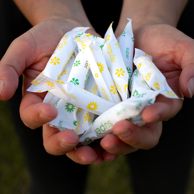 Handful of Pixii tampons