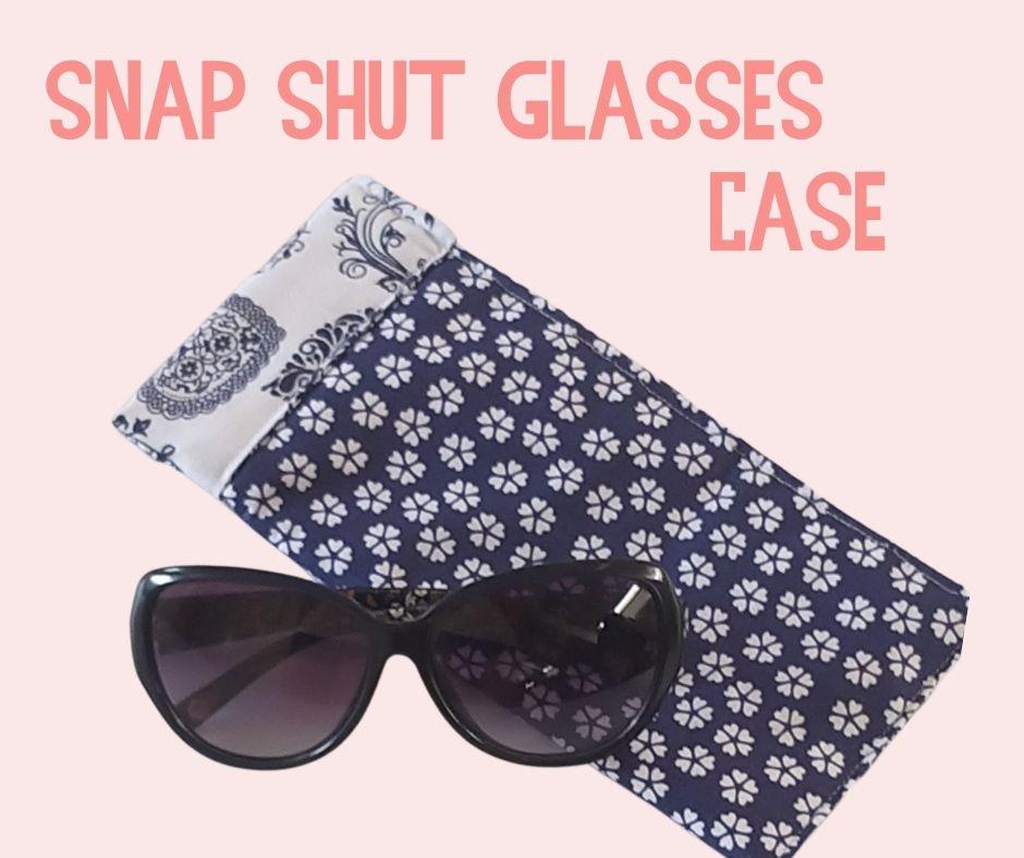 September - Snap Shut Glasses Case