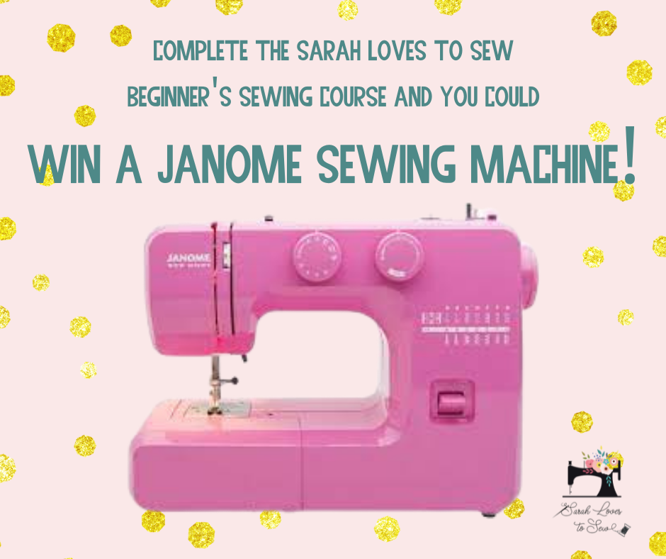 Complete my 3-session Sewing Course for beginners and you could WIN a Janome Sewing Machine!