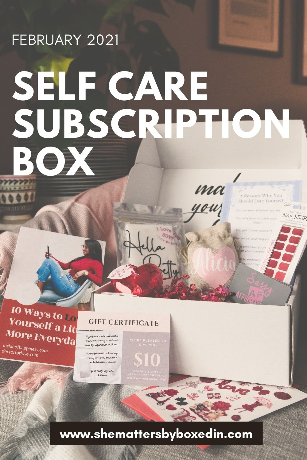 February 2021 Self Care Subscription Box Features