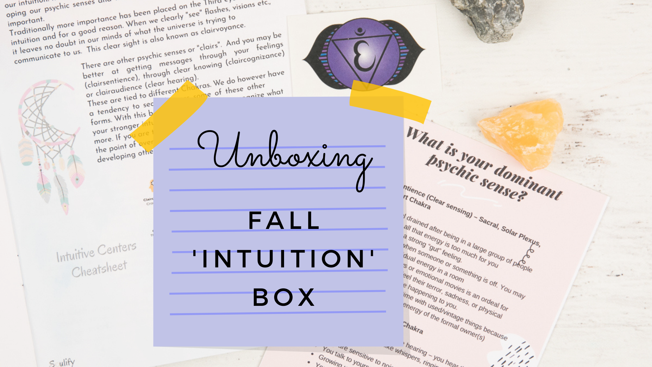 Unboxing the Fall 'Intuition' Box