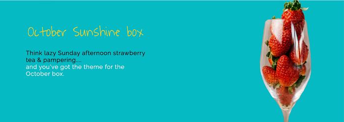 Take a peek in October's Sunshine Box