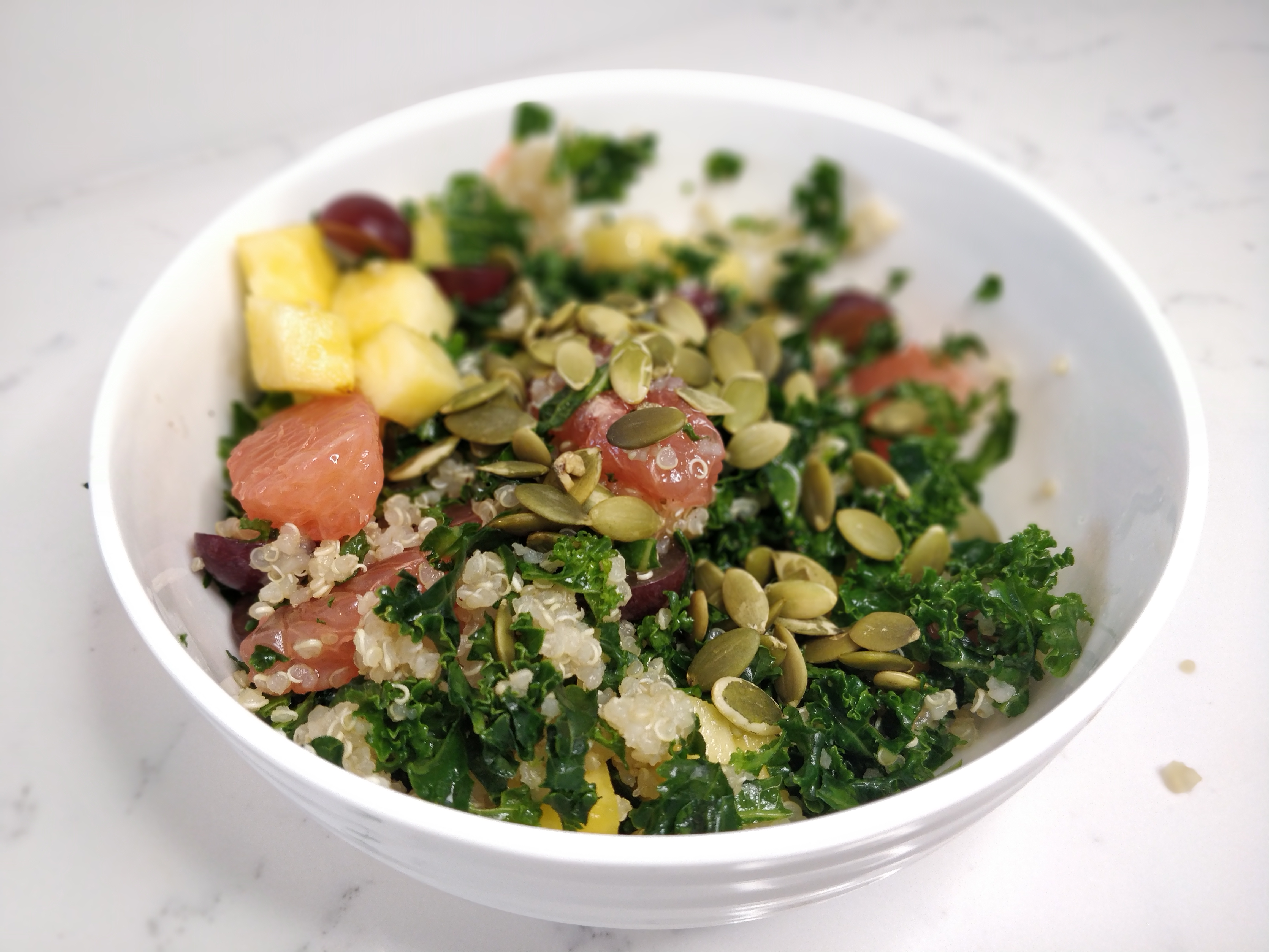 Tropical Kale and Quinoa Salad
