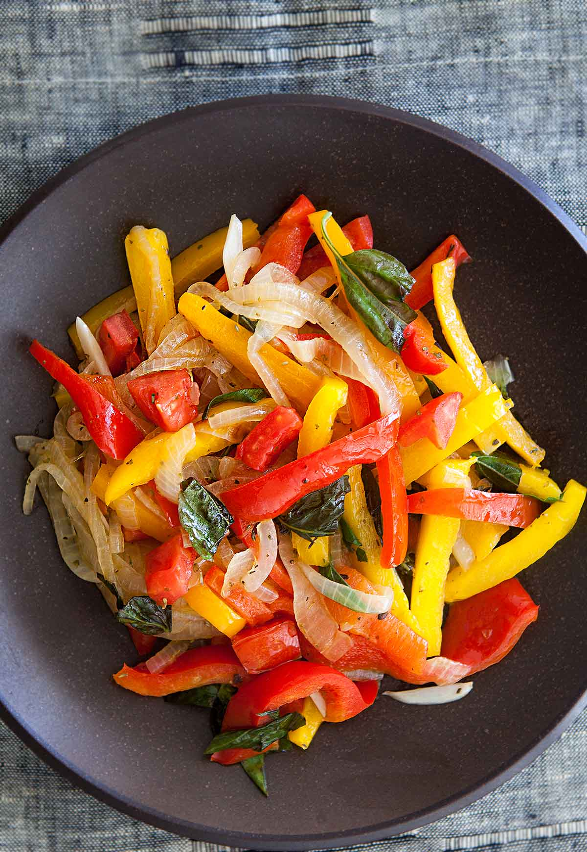 Three Pepper Stir Fry Over Quinoa