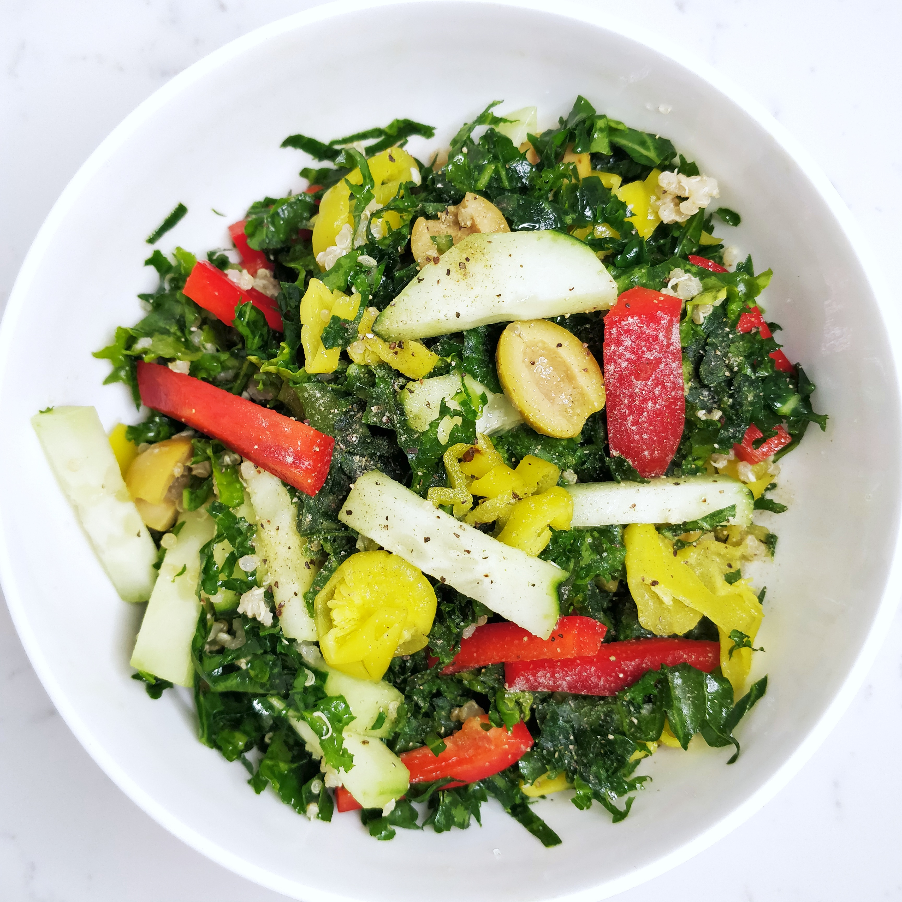 Greek Kale and Quinoa Salad