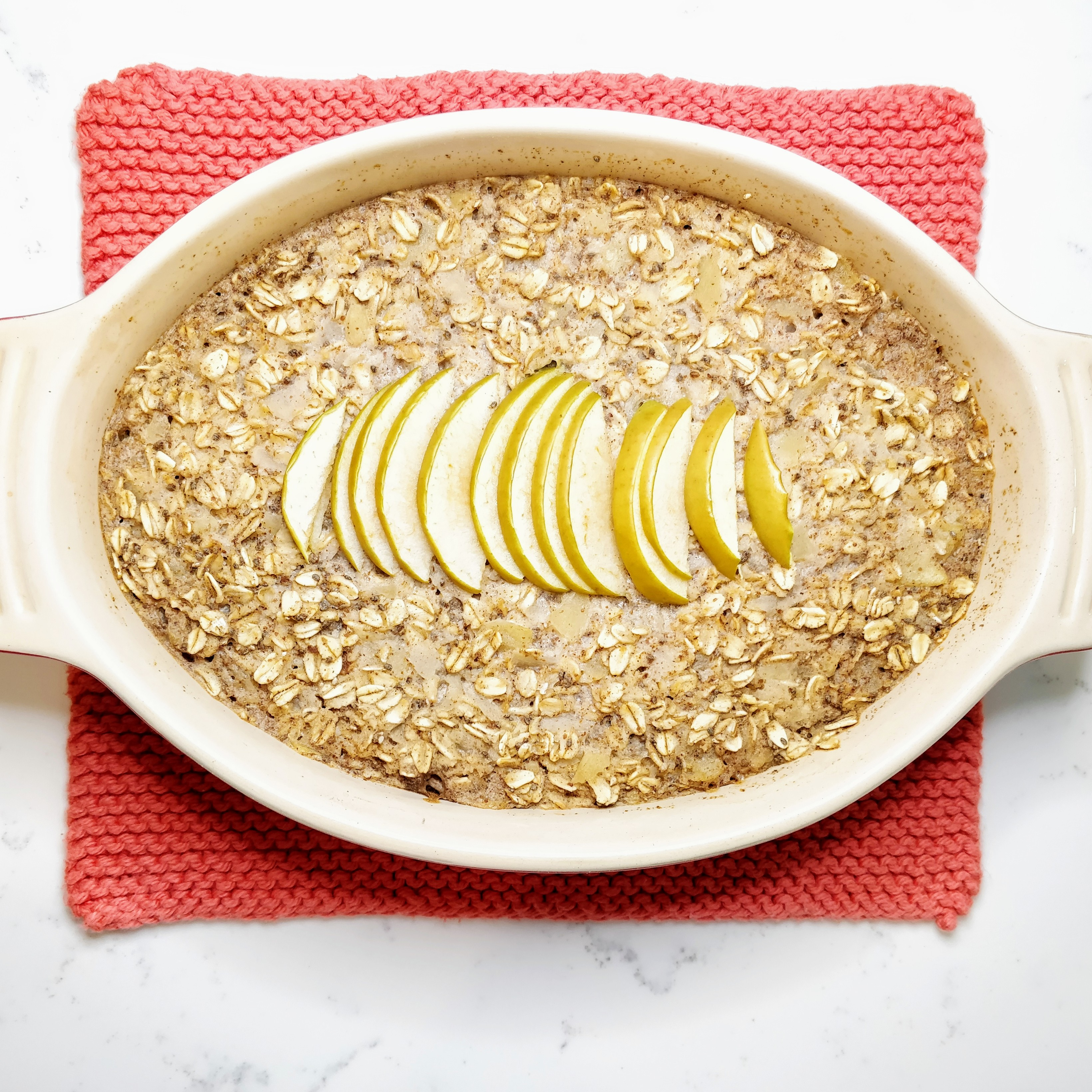 One Dish Baked Apple Oats