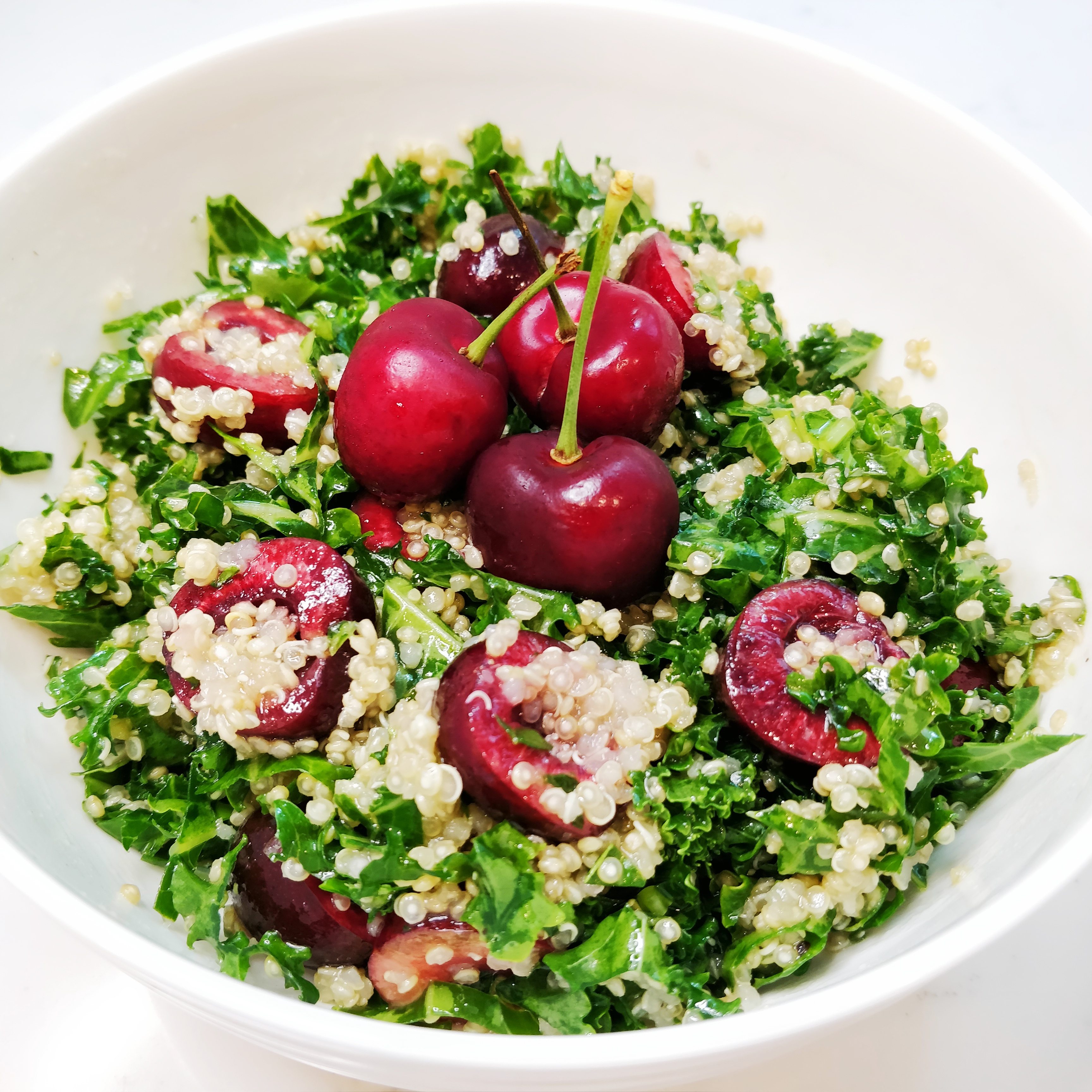 Kale and Quinoa Salad with Cherries
