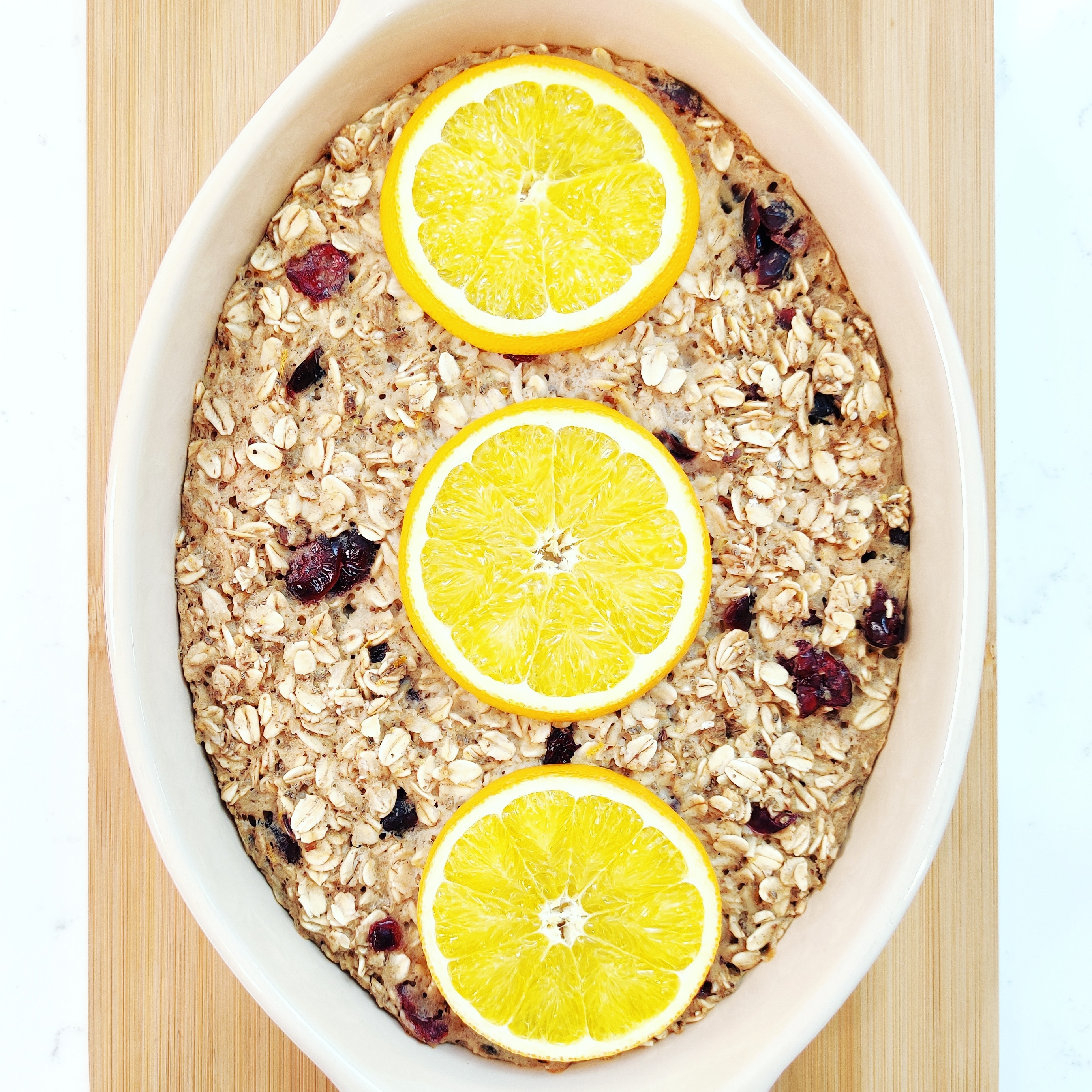 Baked Cranberry and Orange Oatmeal