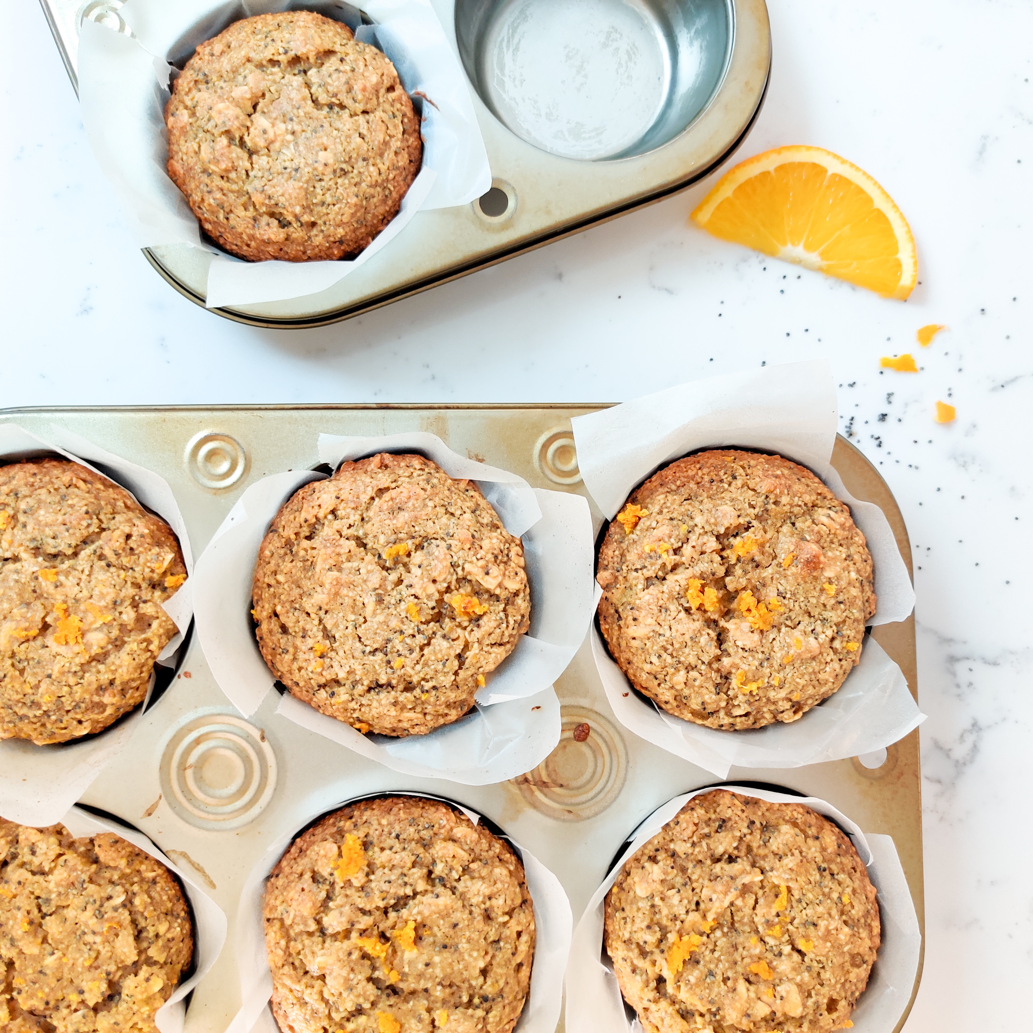 Oatmeal Orange Poppy Seed Muffins