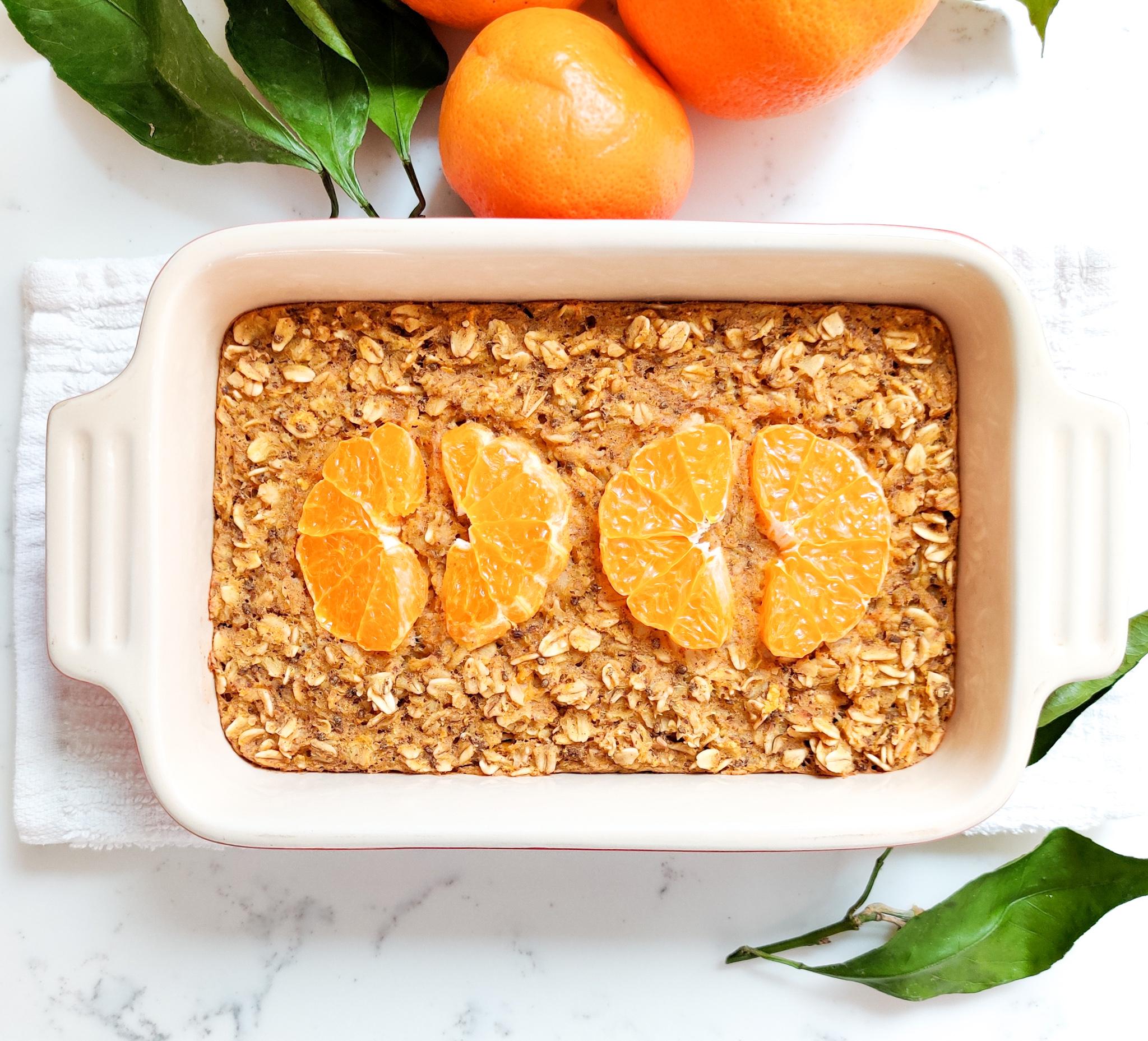 Tangerine Baked Oatmeal