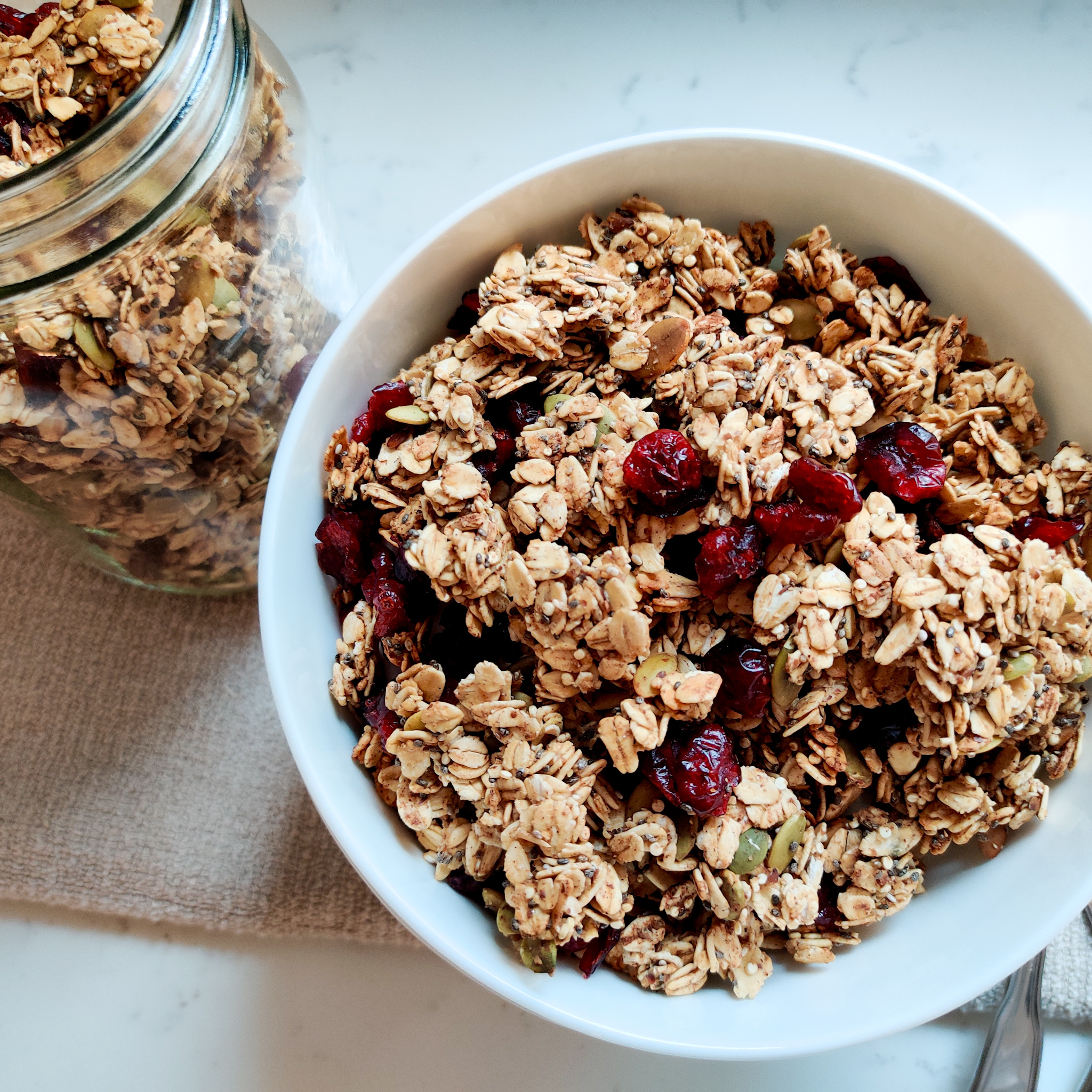 No Oil Crunchy Granola