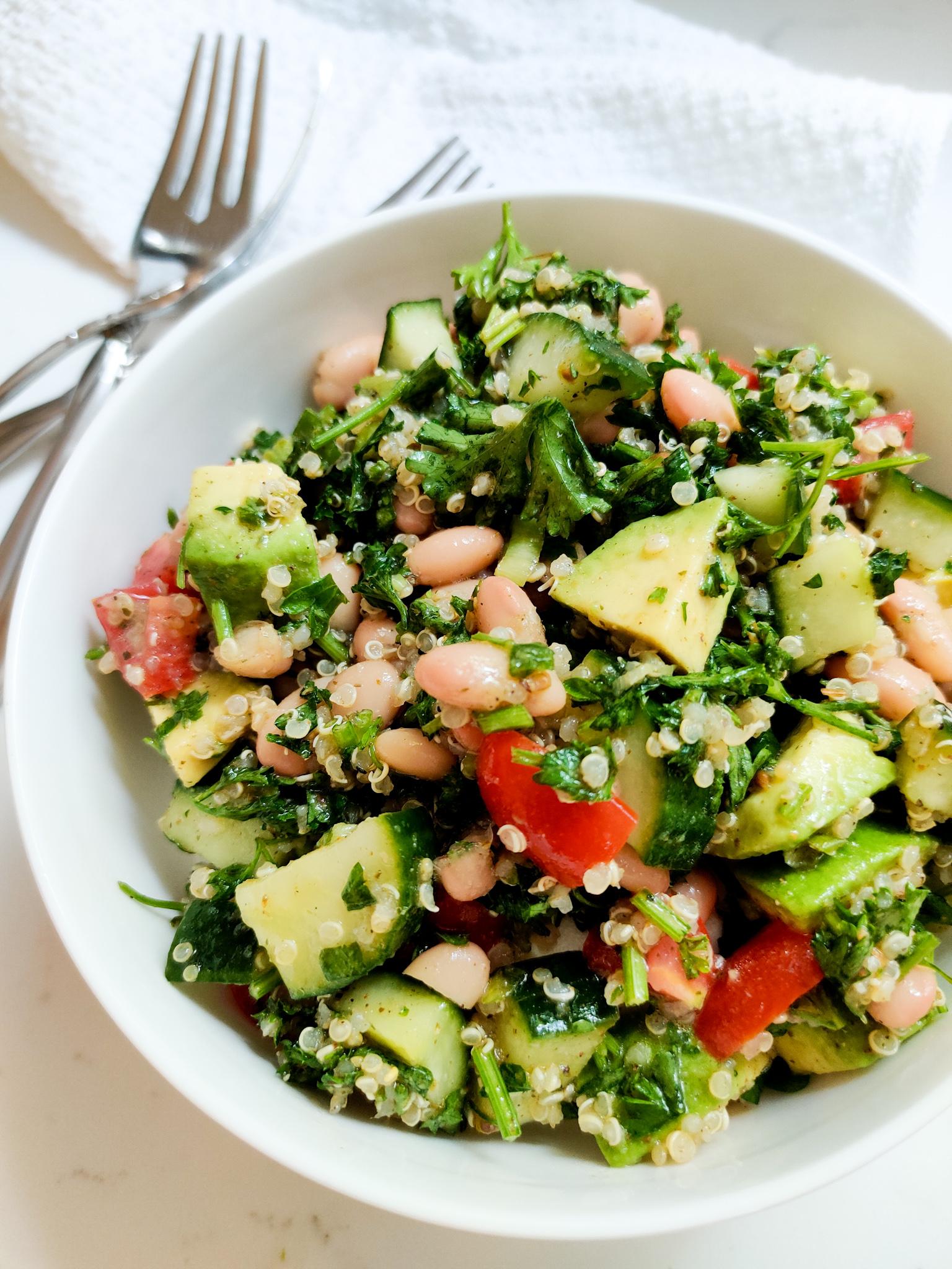 Quinoa, White Bean, and Parsley Salad