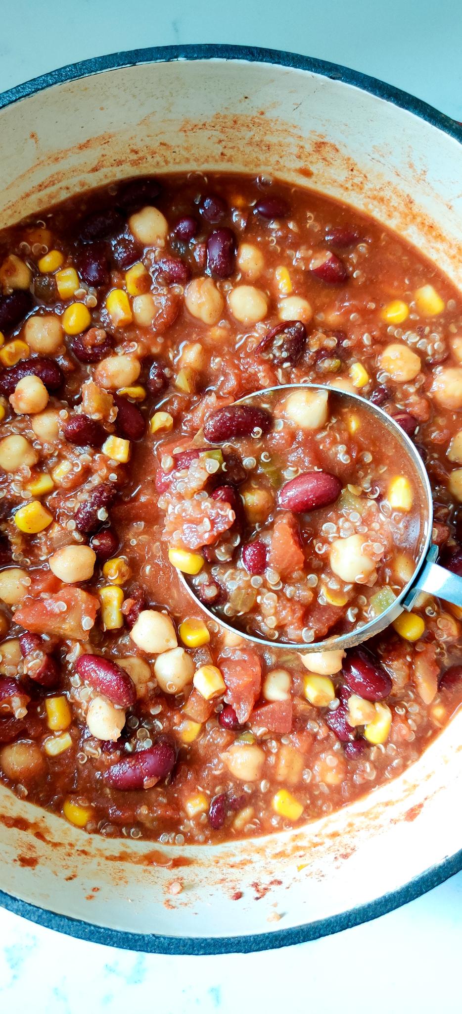 Gorbanzo Bean and Quinoa Chili