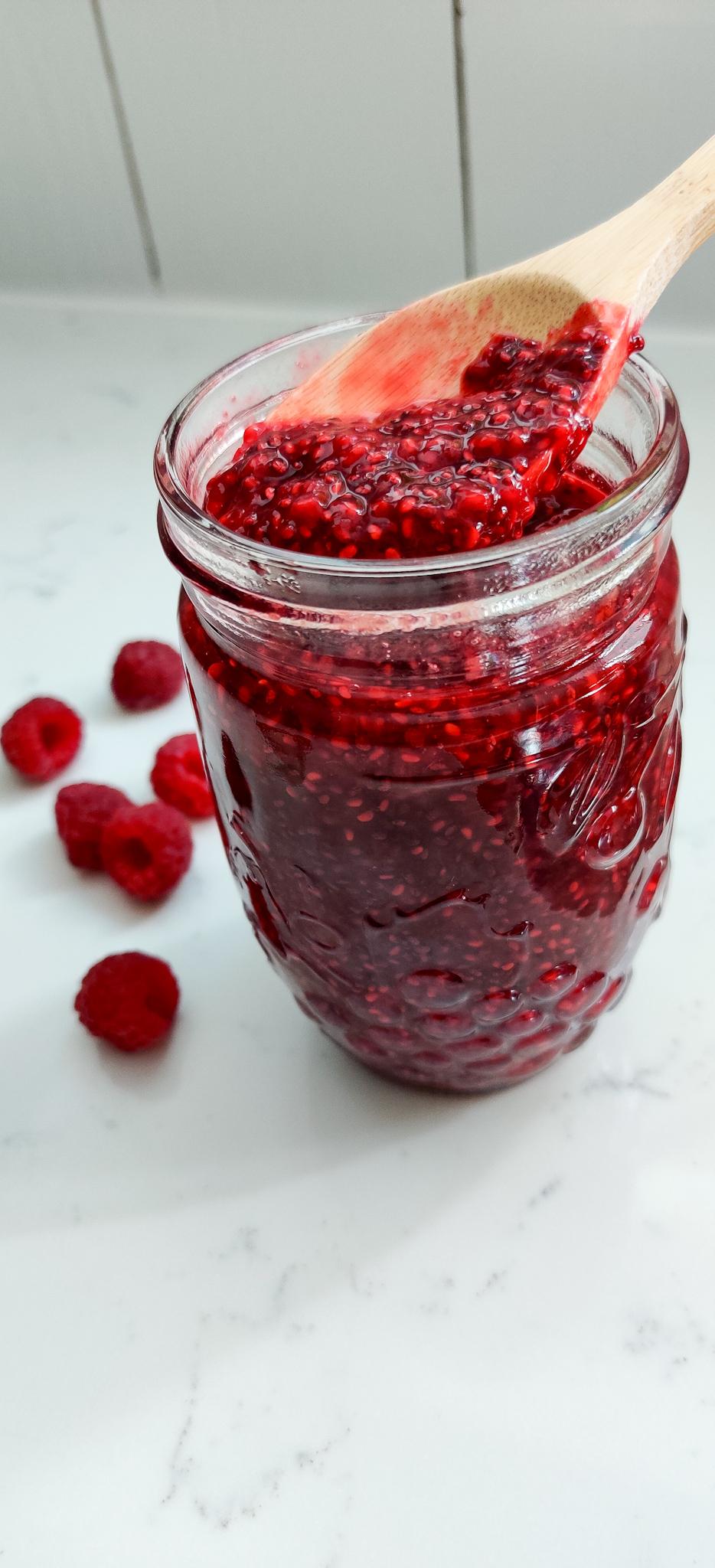 Fresh Raspberry Chia Seed Jam