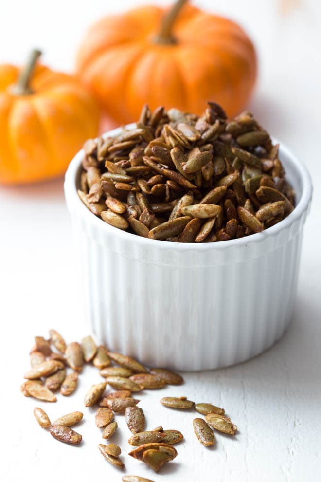 Cinnamon and Sugar Pumpkin Seeds