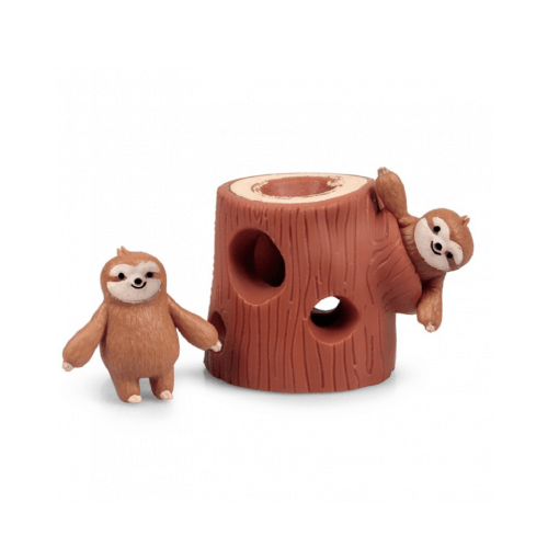 Squeezy Sloth in a Log