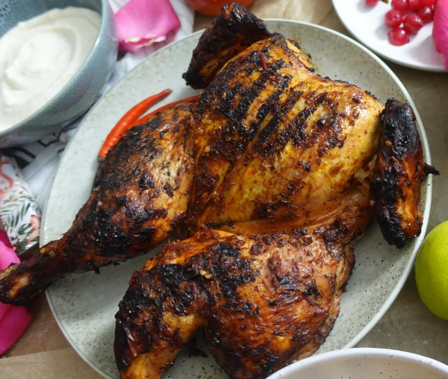 Rose Harissa BBQ Chicken