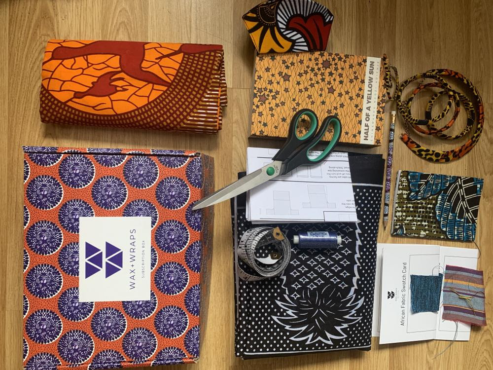 Chimamanda Adichie Vlisco edition AFRICAN PRINT Book Cover