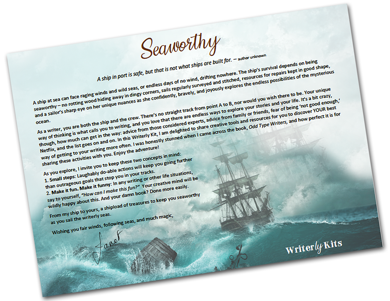 Kit Reveals:  Seaworthy and More!